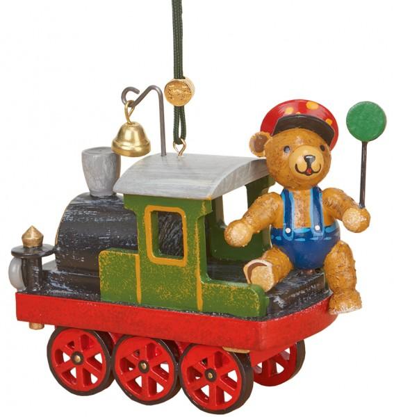 Hubrig Baumbehang Lok mit Teddy