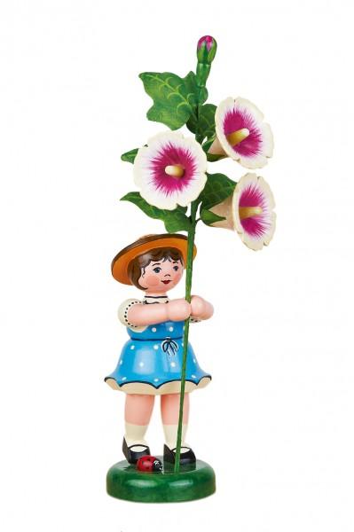 Hubrig Blumenkinder Mädchen mit Stockrose