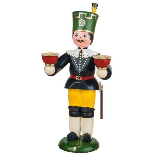 Hubrig Bergmann mit Kerzen 22cm