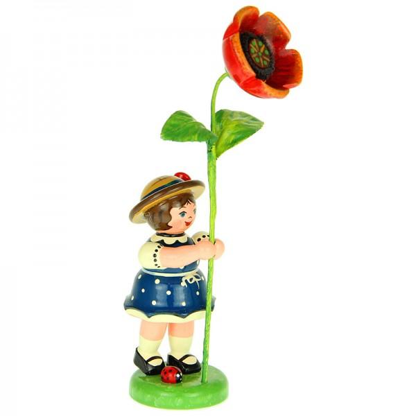 Hubrig Blumenkinder Mädchen mit Mohnblume