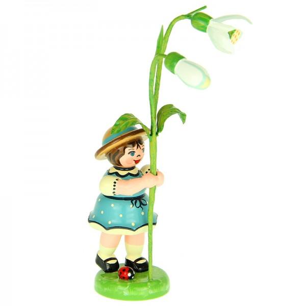 Hubrig Blumenkinder Mädchen mit Schneeglöckchen