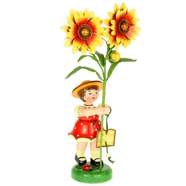 Hubrig Blumenkinder Mädchen mit Kokardenblume
