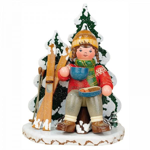 Hubrig Räuchermann Winterkinder Schneeschuhfahrerin