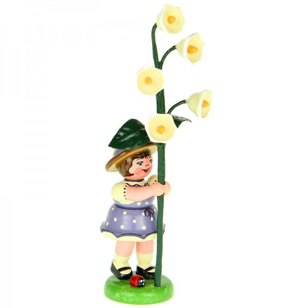 Hubrig Blumenkinder Mädchen mit Maiglöckchen