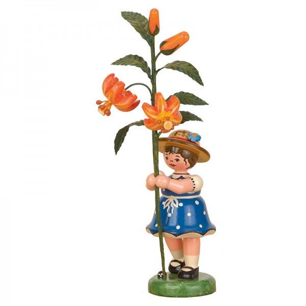 Hubrig Blumenkinder Mädchen mit Lilie