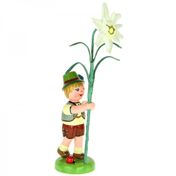 Hubrig Blumenkinder Junge mit Edelweiß