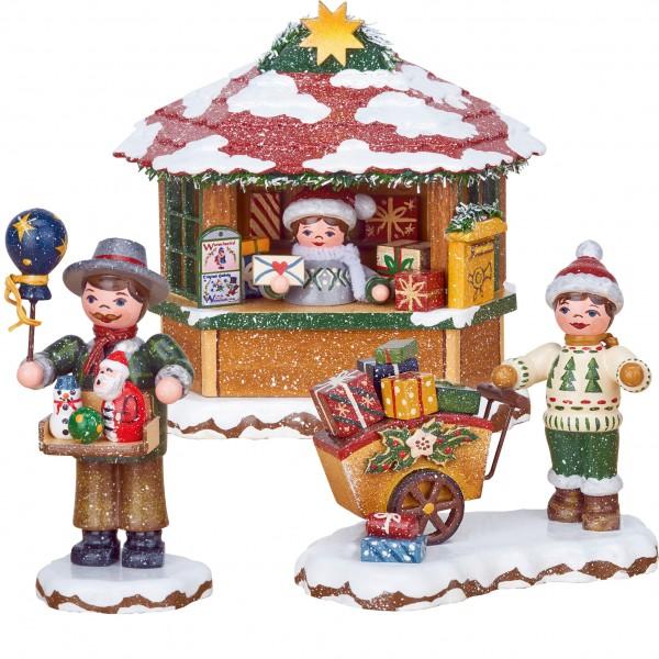 Hubrig Neuheit 2018 - Set 2 - Winterkinder - Spielzeughändler, Geschenkekind, Weihnachtspostamt