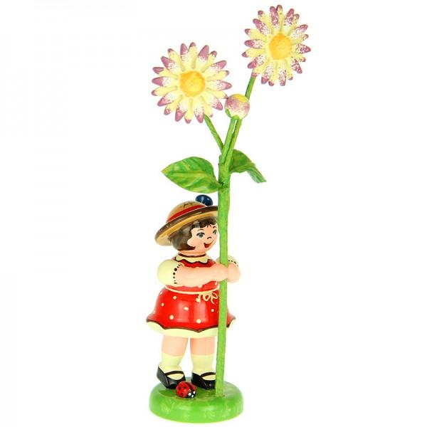 Hubrig Blumenkinder Mädchen mit Gänseblume