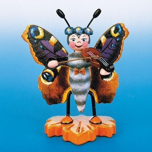 Hubrig Schmetterling Pfauenauge mit Geige
