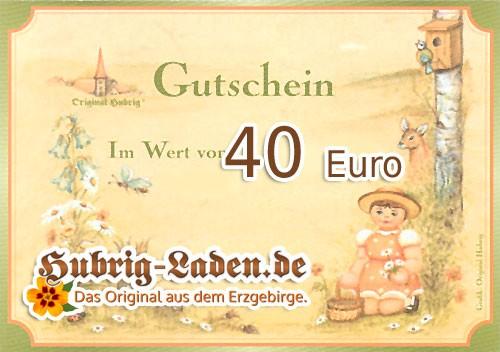 Hubrig Laden Einkaufsgutschein 40 Euro
