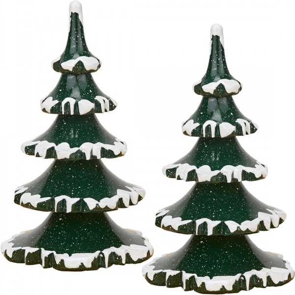 Hubrig Winterkinder 2er Set Winterbaum groß - 11cm