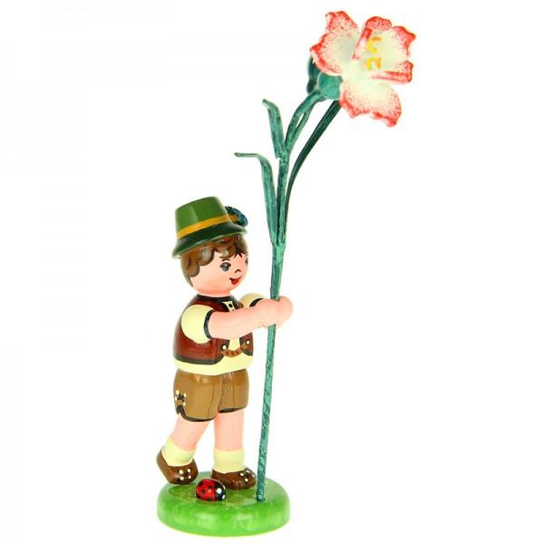 Hubrig Blumenkinder Junge mit Nelke