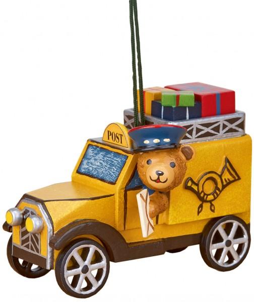 Hubrig Baumbehang Postauto mit Teddy