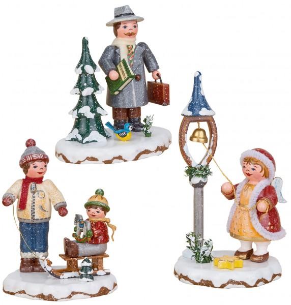Hubrig Winterkinder SET Beste Freunde, Bürgermeister und Weihnachtsglöckchen