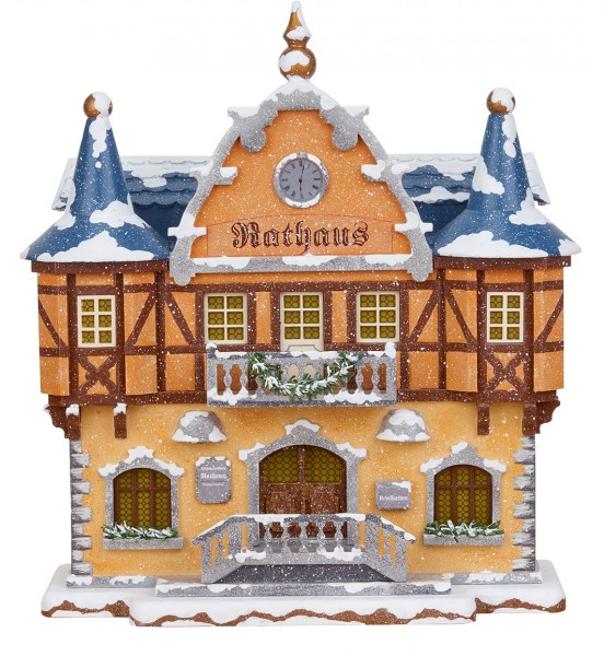 Hubrig Winterkinder Winterhaus Rathaus