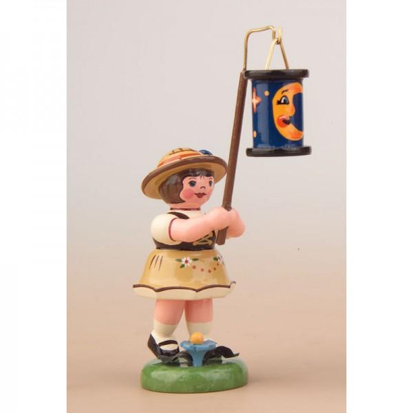 Hubrig Lampionkinder Mädchen mit blauem Mondlampion