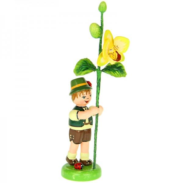 Hubrig Blumenkinder Junge mit Orchidee