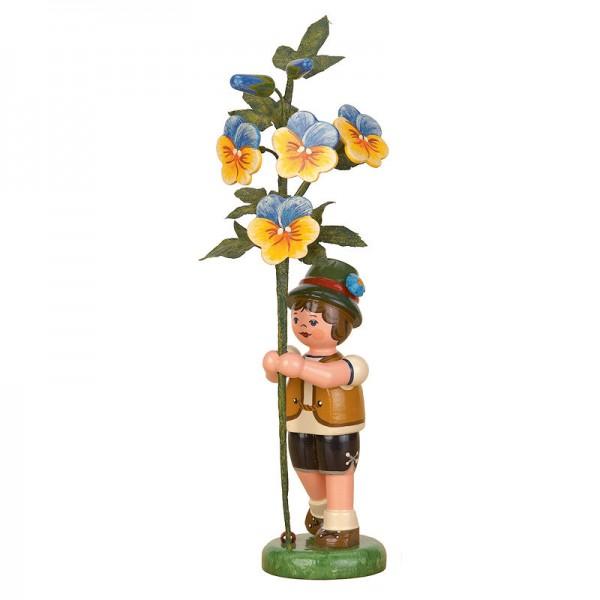 Hubrig Blumenkinder Junge mit Hornveilchen