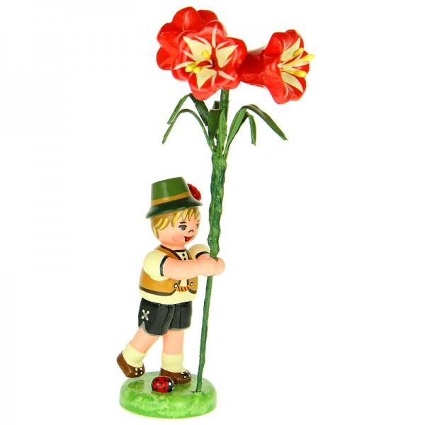 Hubrig Blumenkinder Junge mit Amaryllis