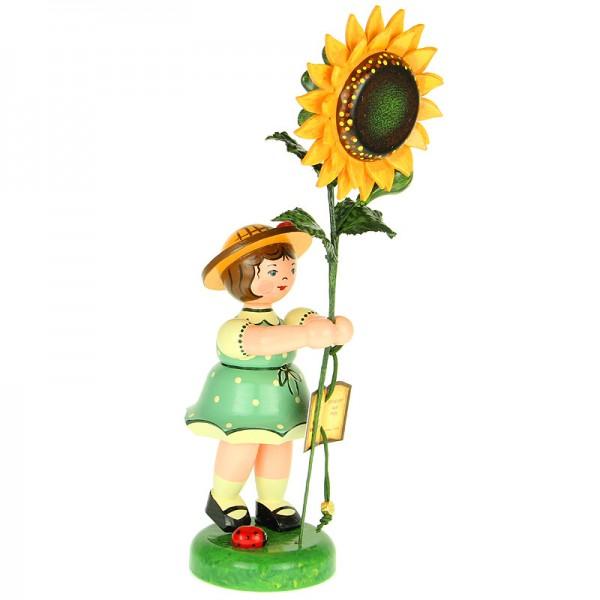 Hubrig Blumenkinder Mädchen mit Sonnenblume