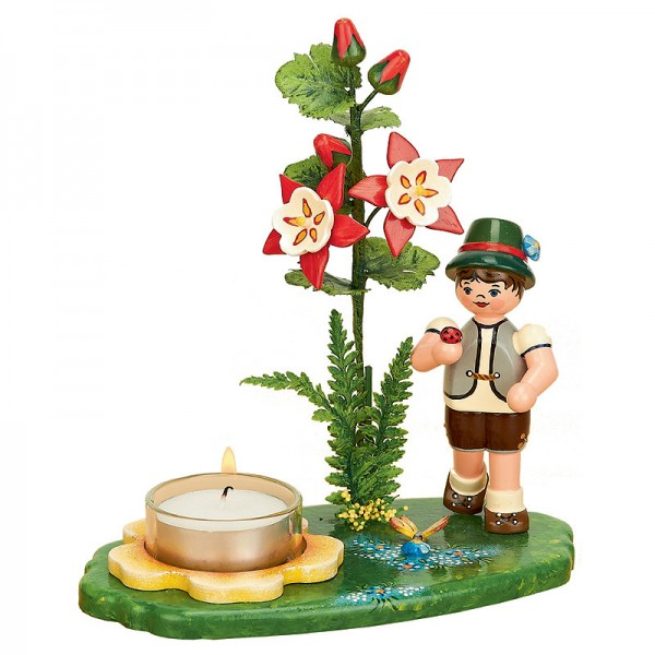 Hubrig Lichterhalter Blumenkinder Junge mit Akelei