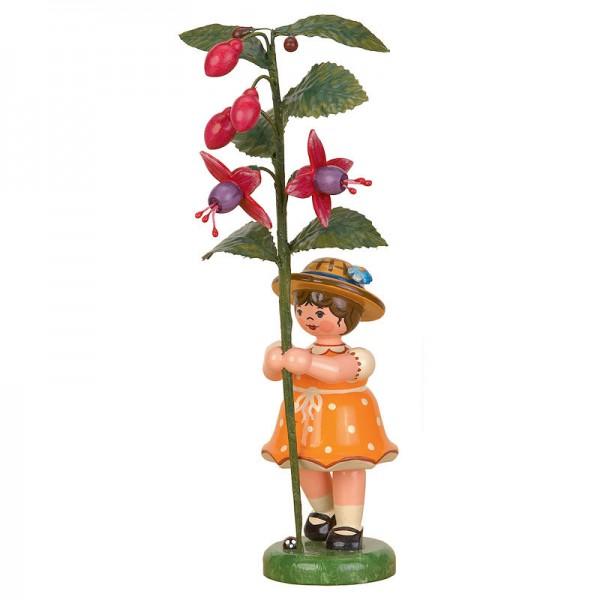 Hubrig Blumenkinder Mädchen mit Fuchsie