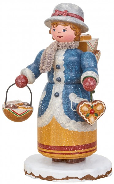 Hubrig Räuchermann Winterkinder - Lebkuchenhändlerin